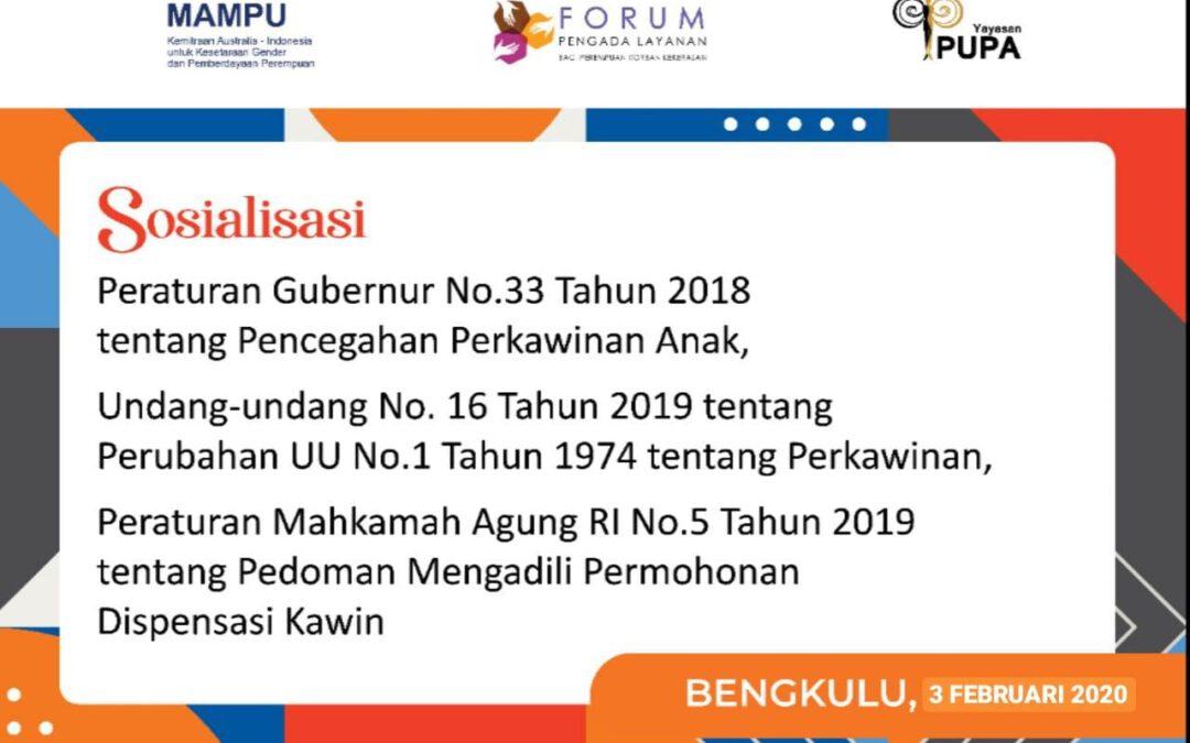 Sosialisasi Peraturan Mahkamah Agung RI Nomor 5 Tahun 2019 Tentang Pedoman Mengadili Permohonan Dispensasi Kawin